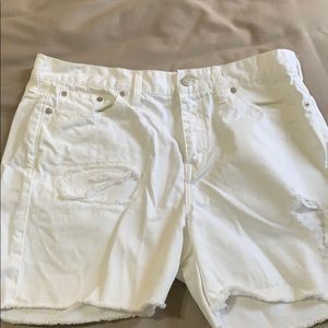 Madewell white jeans shorts